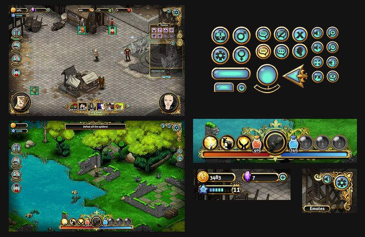 bitmOO, UI design and concepts for Merlin The...