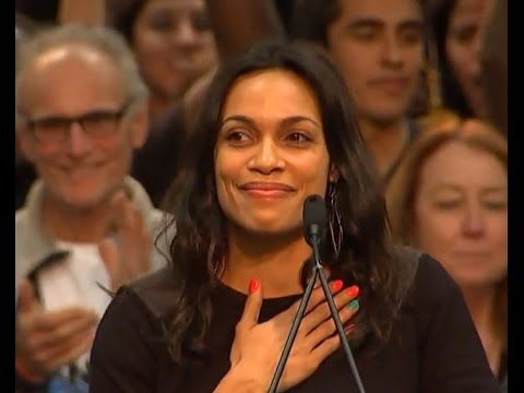 Rosario Dawson endorses Bernie Sanders - Actress Rosario Dawson believes presidential candidate Bernie Sanders is the United States' only shot at peace, justice and equality.  She believes this because he voted against the Iraq war twice, marched with Martin Luther King Jr. for civil rights and because he's fighting for radical change. And she believes young people have the power to get Sanders elected.