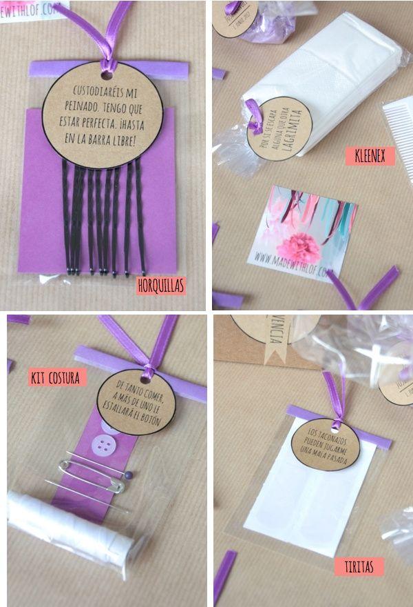kit para un bodorrio. regalos dama de honor