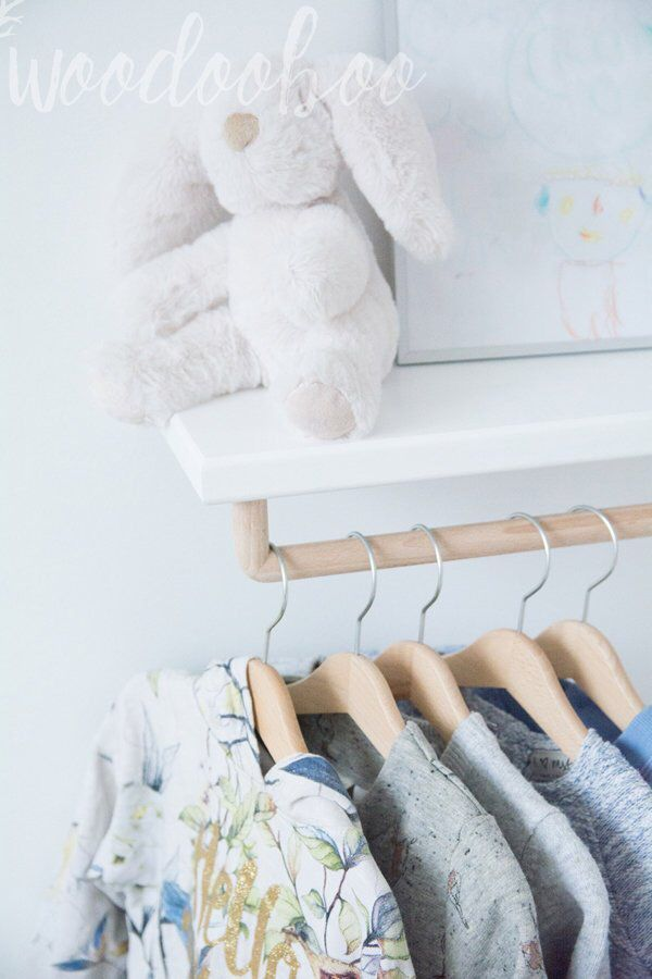 Baby Clothes Rack Wall Shelf With Hanging Rod Nursery Clothes Rack Floating Shelf Wall Shelves White Clothes Rod Baby Clothes Rack Clothes Rack Kids Nursery Shelves Baby Room Shelves Clothes Rod