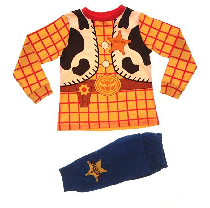 f2a943b7e4 Disney Boys Kids Toy Story Woody Cowboy Pyjamas Pj Set Size UK 3-4 Years