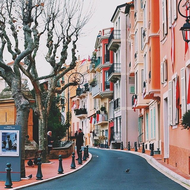Monaco city street. Photo courtesy of erick2790 on Instagram.