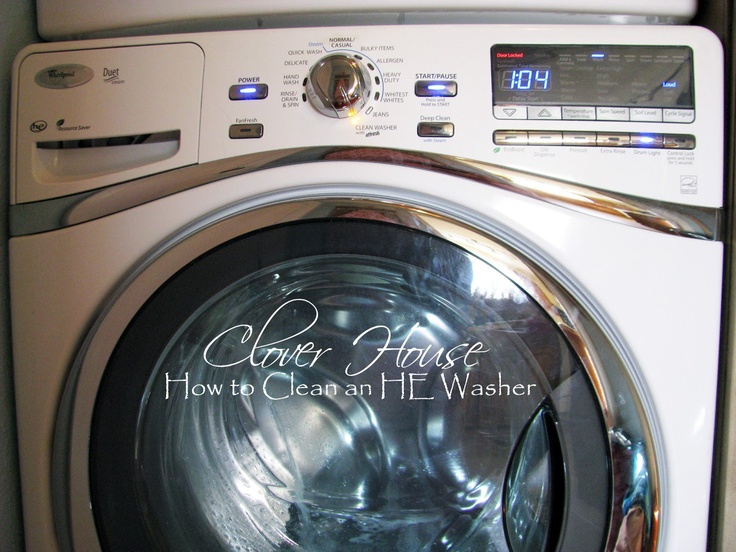 """How to cleaning an HE Washer with Household Products. If you don't have a """"clean washer"""" cycle use hottest setting"""