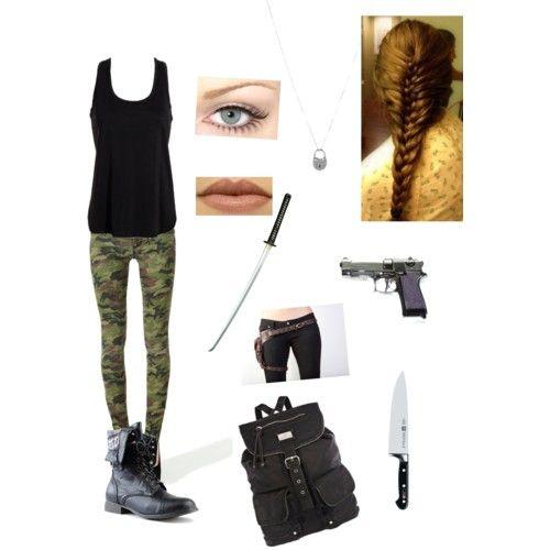 beautiful zombie apocalypse girl outfit girl