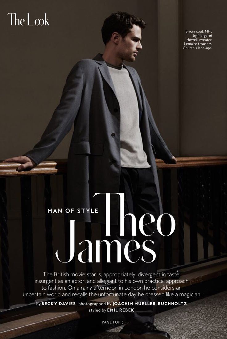 Theo James on InStyle Magazine (March 2016) [SCANS & INTERVIEW]