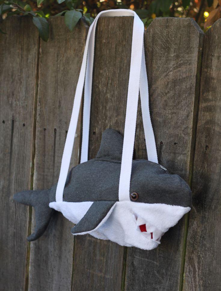 I LOVE THIS shark duffle bag.