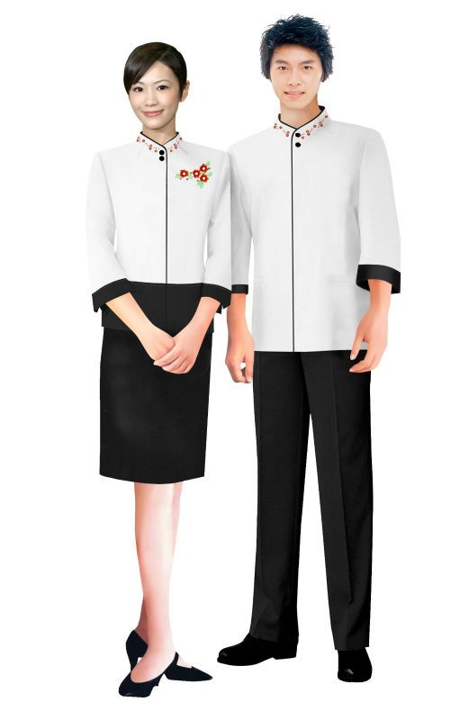 High top quality hotel design uniform/hotel uniforms for waitress/attendant $20~$50