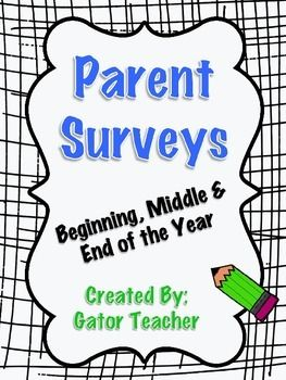 Parent Surveys- Feedback for Teacher at beginning, middle, and end of the year! :) (TeachersPayTeachers)