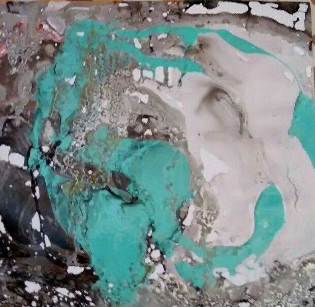 Beatriz isaza arte Serie Experimentos 30 cms x 30 cms Aguadas en pintura de aceite Beatrizisaza53@gmail.com