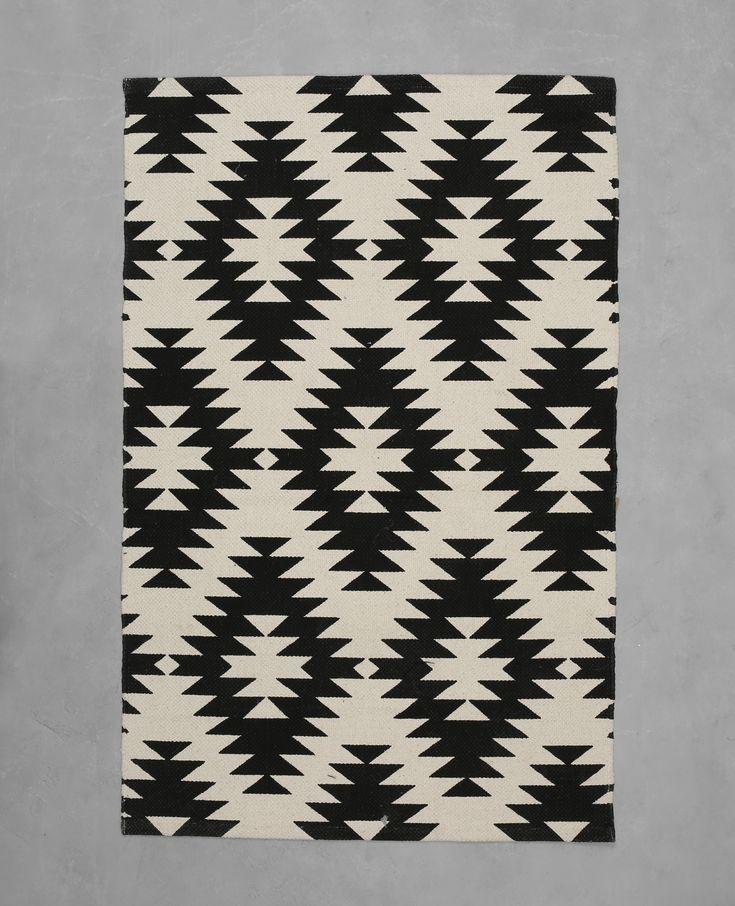 Baumwollteppich mit Berber-Motiv - ,