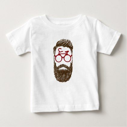 #Hipster biker baby T-Shirt - #cycling #gifts