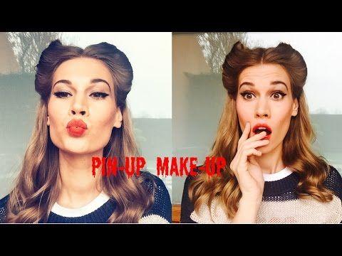 Пин-Ап Макияж. Красные губы и стрелки! Ретро макияж.Анна Корн - YouTube