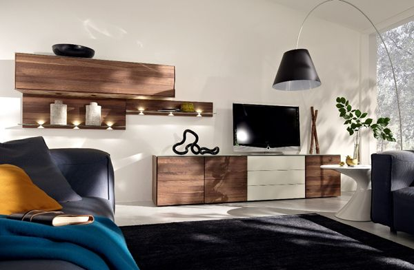 TV Stands Furniture with Wooden Wall Unit by Hülsta