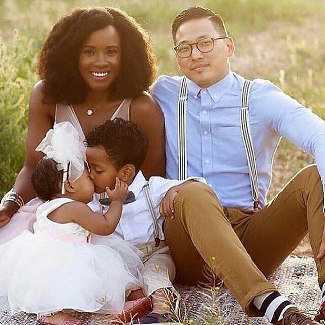 Interracial family #Blasian