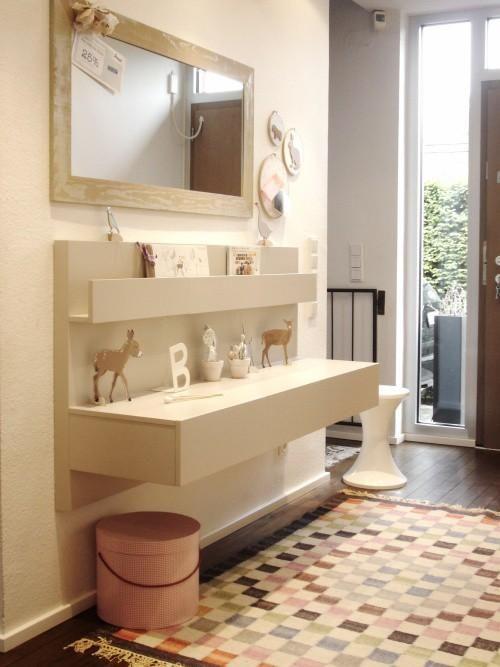 Ikea Hack: Mesillas Malm en el recibidor