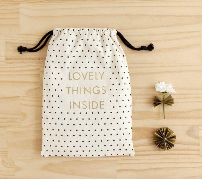 CLOTH GIFT BAG: DOTS