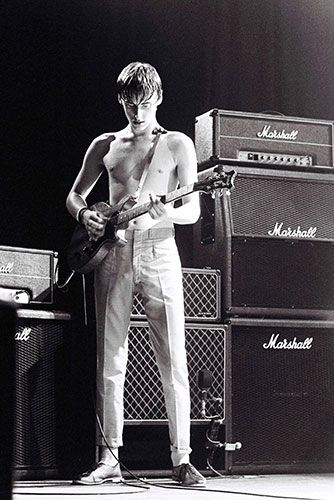 Paul Weller performing in July 1981 at The Guildford Civic Hall