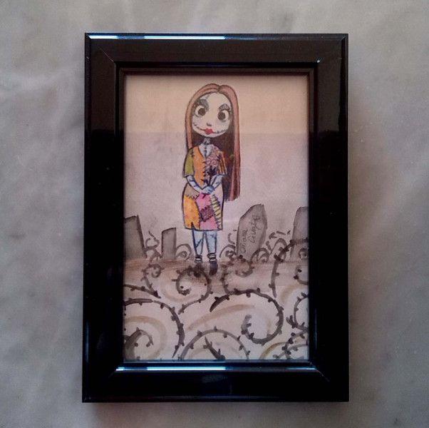 """""""The Nightmare Before Christmas"""" illustrazione incorniciata di Chiara Civati at work su DaWanda.com"""