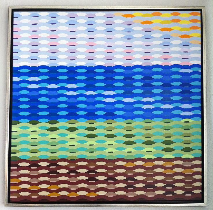 """Titel """"New Wave"""" 80x80 cm. Acrylic Colors"""