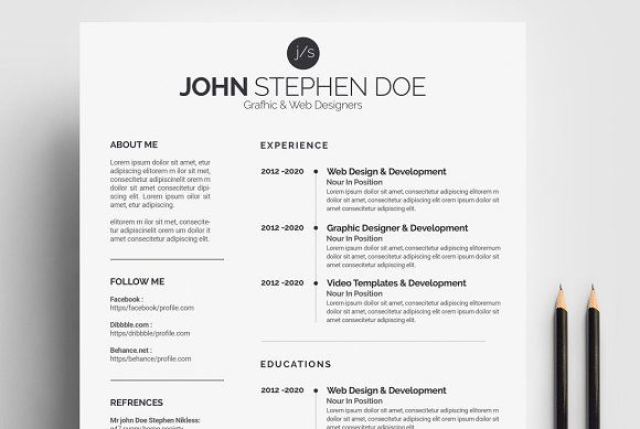 Word Resume  @creativework247