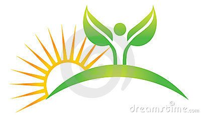 Wellness human plant with sun