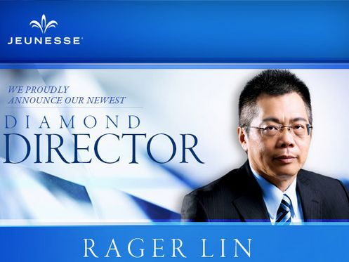"""Please help us congratulate our newest Diamond Director, Rager Lin.   """"I believe everyone deserves success. Don't give up, because you CAN get there!"""""""