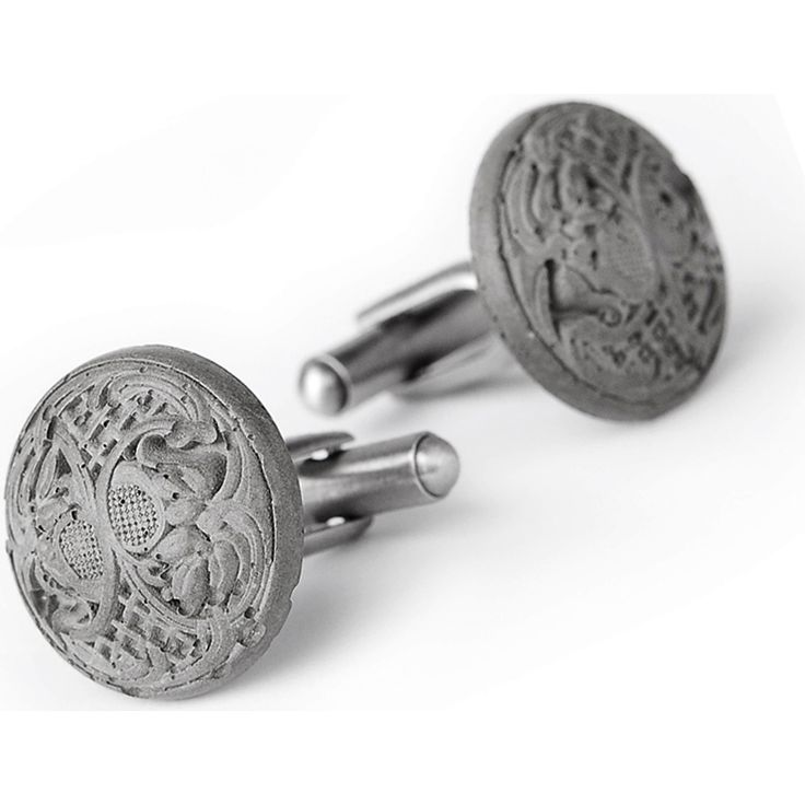 Concrete cufflinks for the fashion-conscious as you have never seen them before. A beautiful and absolutely unique accessory and the perfect gift for men. The delicate pattern is inspired by fine Brussel's lace. Designed and hand-made from very fine concrete by Doreen Westphal in The Netherlands.  http://goo.gl/tdlRAf