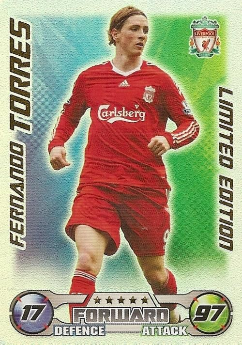 Trading Cards - MATCH ATTAX 2008/09 - FERNANDO TORRES LIMITED EDITION CARD