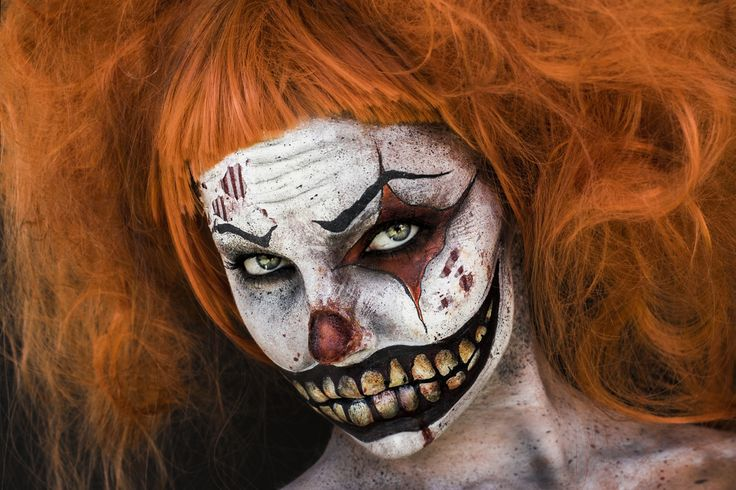 Nightmare at the Circus - Evil Clown Makeup by Elvis Schmoulianoff, Model: Teilia Smith, Photography by Donatella Parisini #Halloween