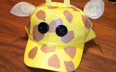 Animal Caps. Wear your favorite animal on your head with this great giraffe baseball cap.
