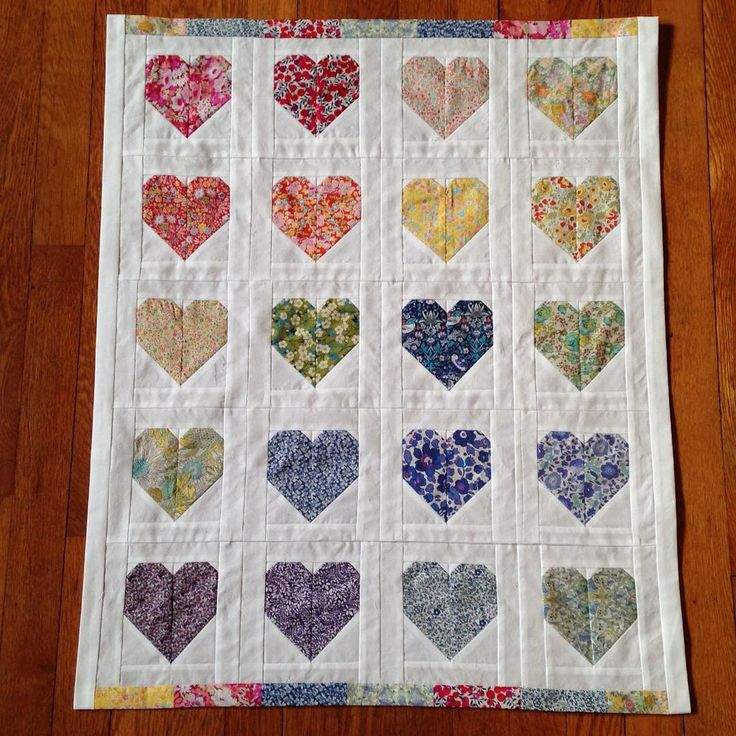 Friday night flimsy finish for my Liberty heart mini quilt.  Tomorrow I get to make a quilt sandwich. Thank you @projectleasa #sewyourstash2015 for inspiring me to finally use my #purlsoho bundle. Heart pattern by @cluckclucksew
