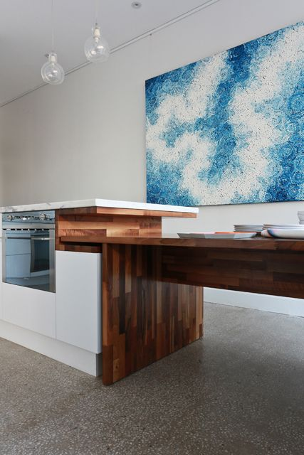 Freedom Kitchens - Kitchen Photo Gallery clever idea for a custom table or extra bench space