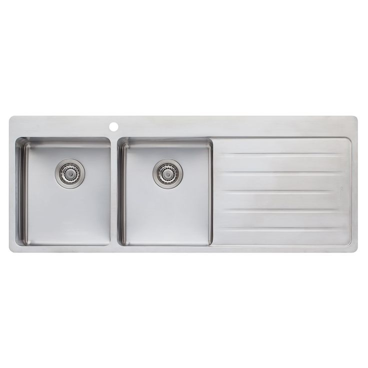 Can't wait to do the dishes by hand with this beauty...Oliveri Sonetto Double Bowl Inset Sink with RH Drainer