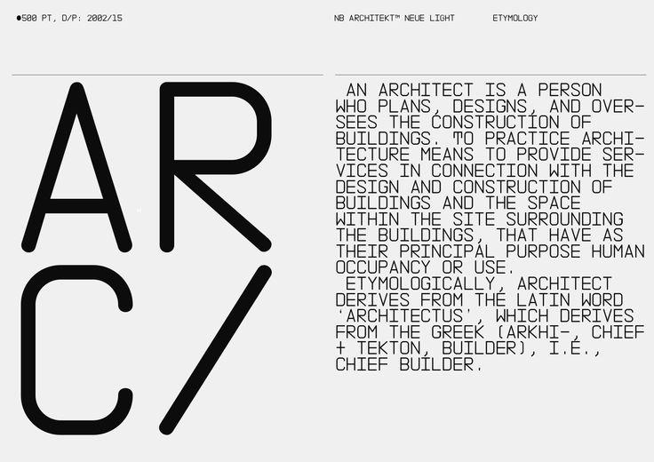 NB Architekt™ Light & Neue Light Std Edition (2002/16) on Behance