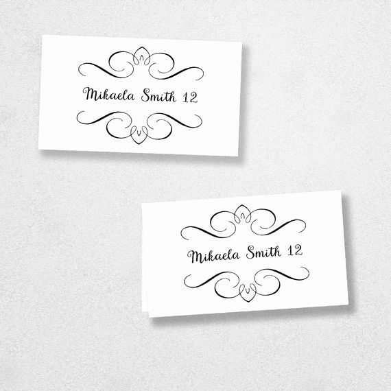 Microsoft Word Place Card Template Unique Printable Place Card Template Instant Do Free Place Card Template Place Card Template Printable Place Cards Templates