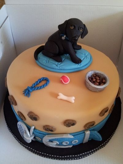 Lab Dog Themed Birthday Cakes