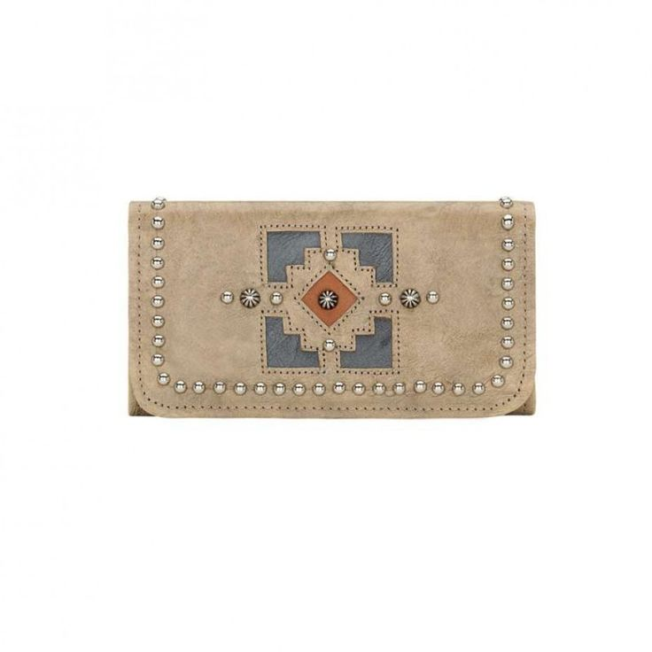 American West Annies Secret Ladies Tri-Fold Wallet Sand A handy wallet in a neutral colour ideal for a range of outfits $139.00