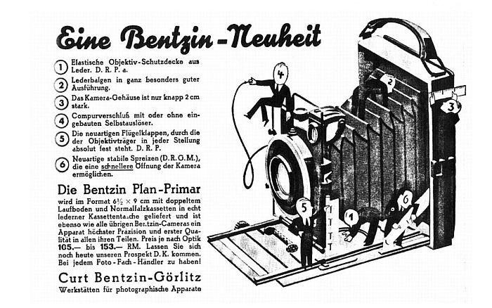 Bentzin Primar Plate Camera - Photo.net Classic Manual Cameras Forum
