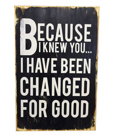 Take a look at this 'For Good' Wood Sign by 13Pumpkins on #zulily today!