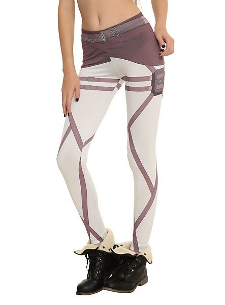 Attack On Titan Scout Costume Leggings | Hot Topic - I HAVE A MIGHTY NEED! :D