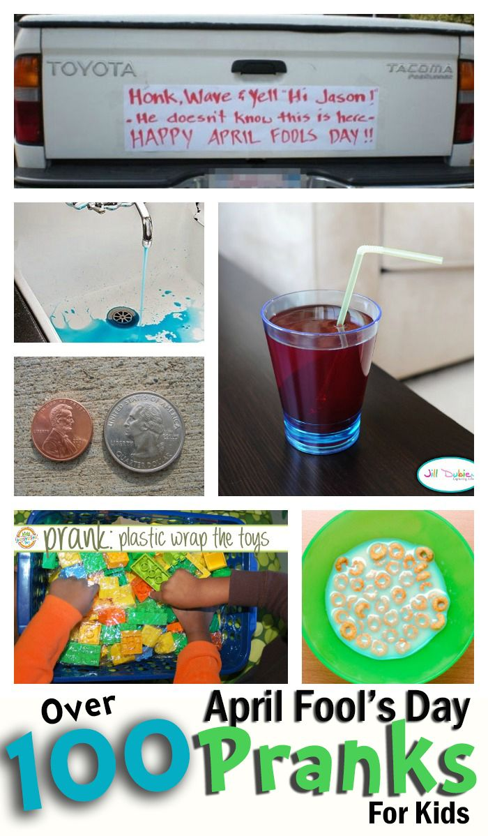 130+ April Fools Pranks for Kids