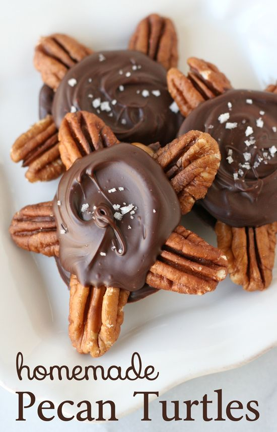Easy homemade Pecan Turtles - You'll be surprised how easy it is to make these delicious treats!