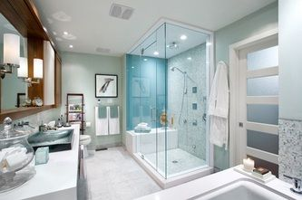 online interior decorating - spa bathroom