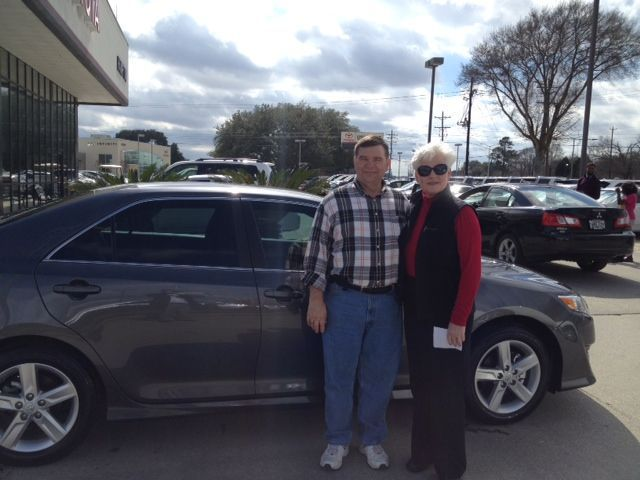 Congrats to Mr. Lee and Ms. Janis Cooke for the purchase of your 2014 Toyota Camry sold by our dedicated sales expert Russell Zay! We appreciate your business and enjoy your extravagant new set of wheels!