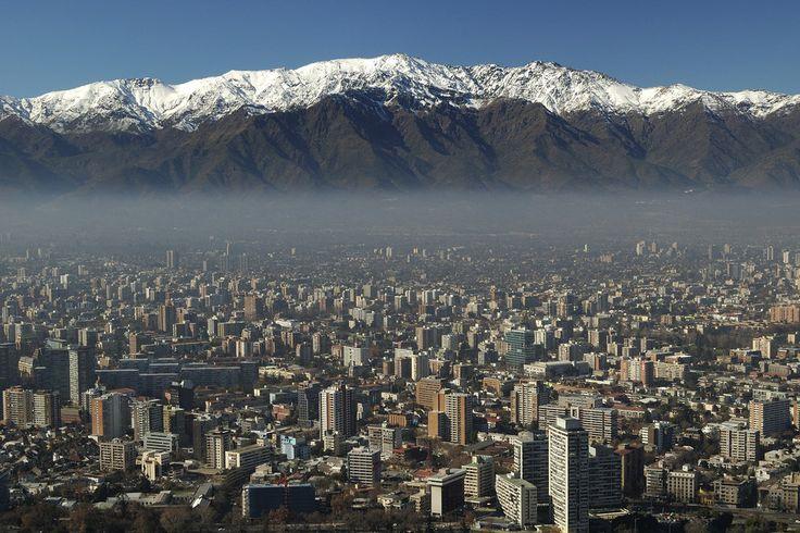 Esta será la hermosa vista que tendrás desde Santiago de Chile. | 27 Imágenes que te harán querer viajar a Chile inmediatamente