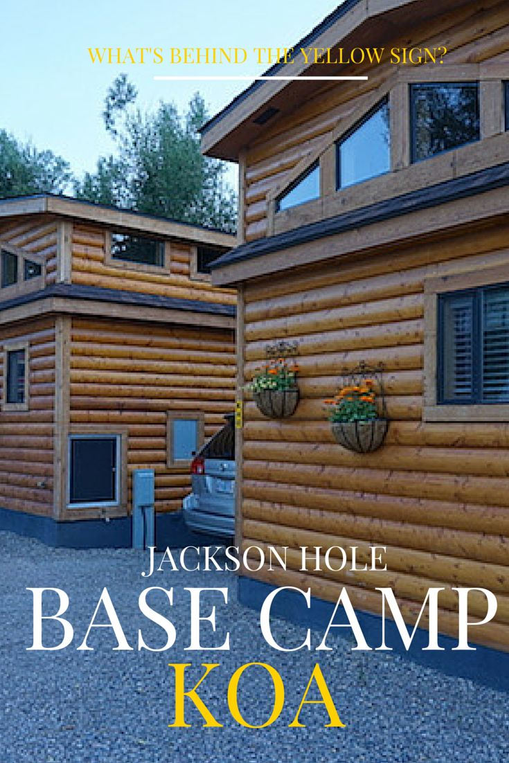 Spending time at Jackson Hole WY? The Base Camp KOA camping cabins are perfect for your family vacation!