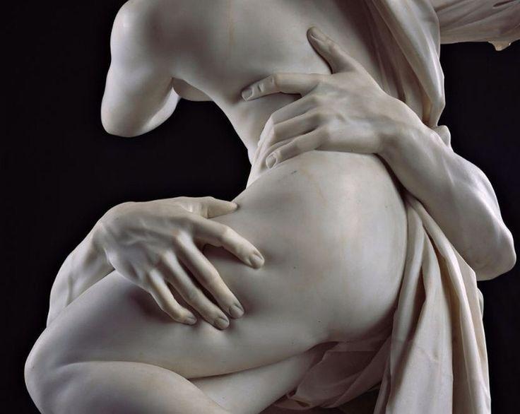 The Rape of Proserpina by Gian Lorenzo Bernini (1621-2). Detail.