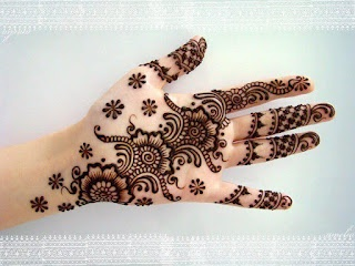 Mehandi Desings for Girls. Henna is more then jewellery for girls.