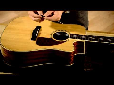 How to Change Your Acoustic Guitar Strings - YouTube