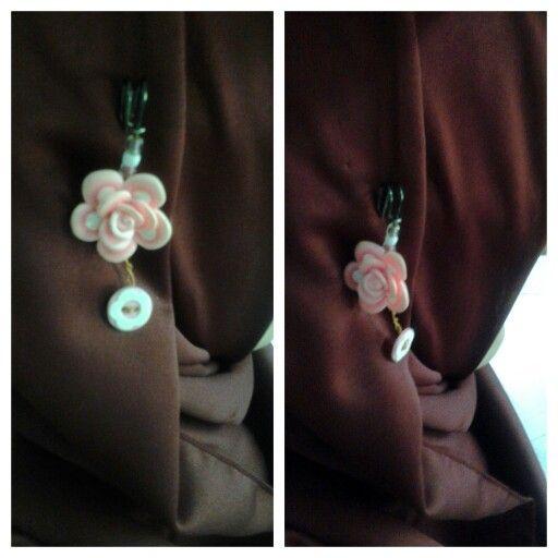 pink Flower at hijab